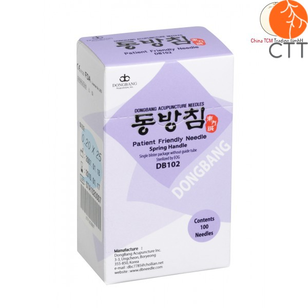 Dong Bang Spring Single Disposable Acupuncture Handle Needles 0.20 X 30 Mm Health & Beauty
