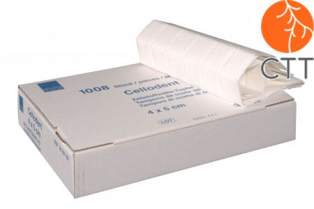 Swab (pulp) without alcohol, box of 1´008 pieces, 4x5cm
