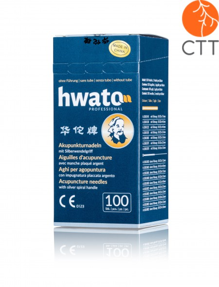 Original HWATO gold needles, completely gold-plated, silicone-free, without tube, 0.30 x 40 mm