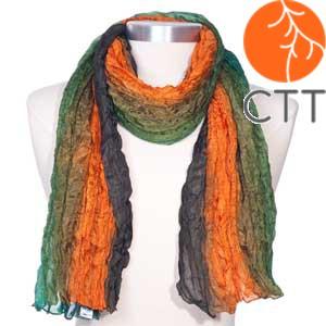 Silk scarf TERRA , 100% natural silk from India