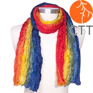 Silk scarf RAINBOW, 100% natural silk from India