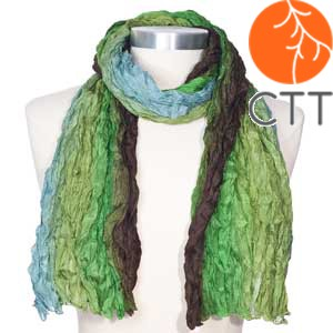 Silk scarf SUMMER RAIN, 100% natural silk from India