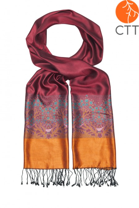 Silk scarf Deluxe EVENING DREAM , 100% natural silk from India