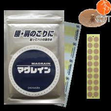 MAGRAIN gold plated, ear pellets on skin coloured tape, 300 pcs