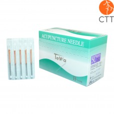 TeWa 5CB-Type Spee Pak needles, copper handle, 5 needl. per tube, silicon coated