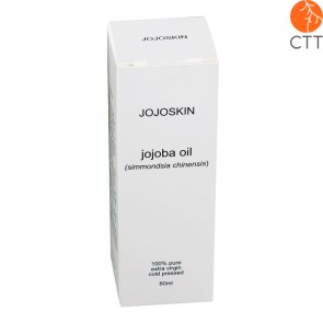 JojoSkin Jojoba Oil, 100 percent pure and all natural, glass bottle with 60ml