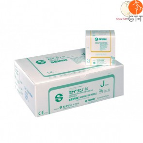 SEIRIN Typ J, with tube, plastic handle, silicon coated 100 needles per box