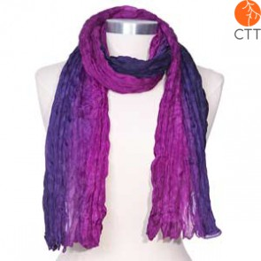 Silk scarf LILAC, 100% natural silk from India