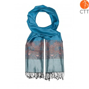 Silk scarf Deluxe FREE BIRD, 100% natural silk from India