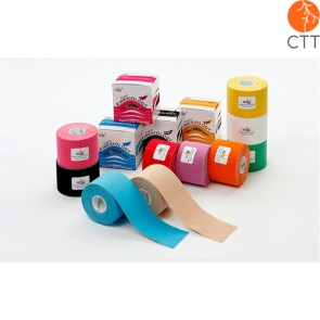 NASARA Kinesiology tape, 5 cm x 5 m, in 9 different colours