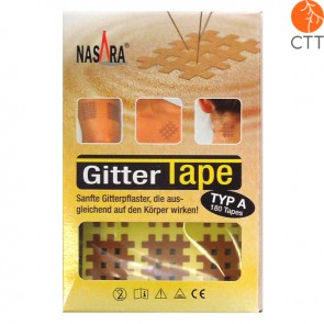 Nasara cross tape mash type, skin colour 2cm x 3cm