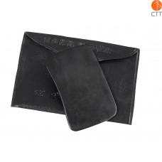 Gua Sha scraper, rectangular, size: M, approx. 8 x 4.8cm, color black