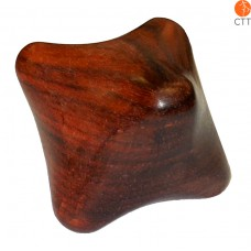 Massage cube made from hard wood