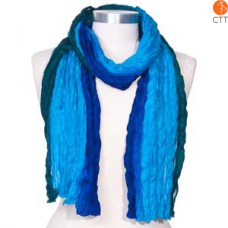 Silk scarf OCEAN, 100% natural silk from India