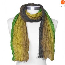 Silk scarf RAIN FOREST, 100% natural silk from India