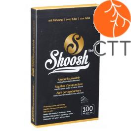 Akupunkturnadel SHOOSH3510, EXTRA LANG ! 0.35 x100mm, mit Fuehrung und mit Kupfergriff