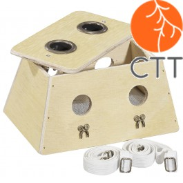 Moxa-Box aus Holz mit 2 Loch