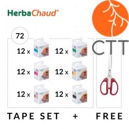 HerbaChaud Tape Set 72 Rollen   Schere, 5cm x 5m