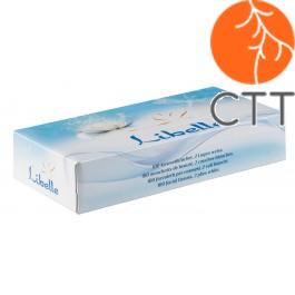 Kosmetiktücher aus 100% Zellstoffwatte 100 Stk/Schacht., 2-lag., 40 Sch./Karton