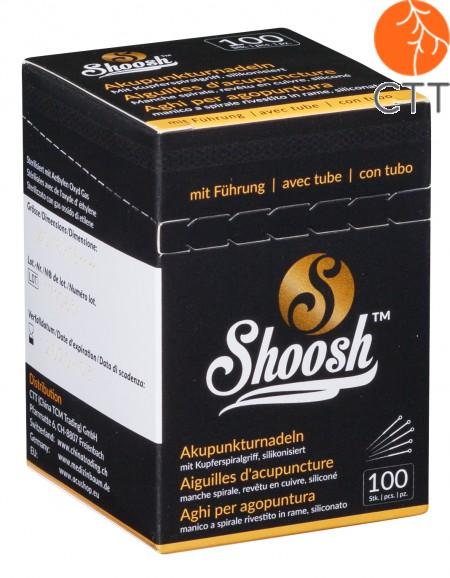 Akupunkturnadeln SHOOSH, mit Fuehrungsroehrchen und Kupferwendelgriff