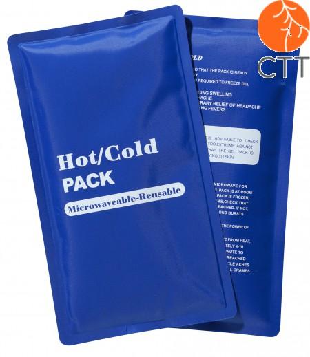 Kälte- und Wärmekompresse, Mehrfachnutzung mit Textilbezug, 23 x 13cm, blau