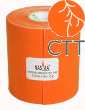 NASARA® Tape, orange, 7.5cm x 5m, extra breit