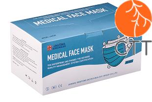Medizinische Einweg Mundschutz Masken, (Typ IIR), Set mit 50 Stueck, nicht steril - für Arztpraxen verwendbar