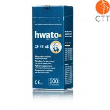 HWATO ohne Führung, versilberter Spiralgriff, 100 Nadeln pro Box - jetzt noch besser !