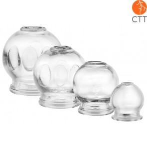 Schroepfglaeser-Set 4-teilig aus stabilem, dickwandigem Glas mit Griff
