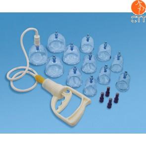 Magnetisches Schröpfgläser-Set mit Pumpe, 12 Kunststoffglaeser
