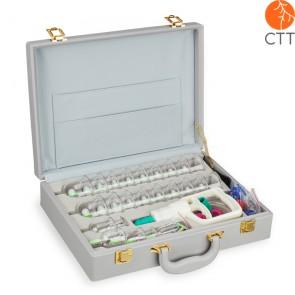 Schröpfgläser-Set Vakuum Deluxe, 24 Gläser mit Handpumpe im Kunstleder-Koffer