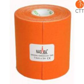 NASARA® Tape, orange, 7.5cm x 5m, extra breit