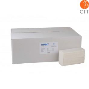 Papierhandtuch, 2-lagig, weiss rec. Z-Inter-Falz, 3750 Stk./Kt.