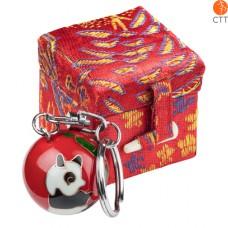 Schlüsselanhänger PANDA rot, mit Klang