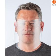 Persoenlicher Augenschutz mit Brille und Klarsicht-Plexiglas-Scheibe