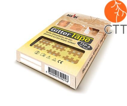 Nasara tape grille (cross tape) 3cm x 4cm , 20 feuilles à 6 tapes