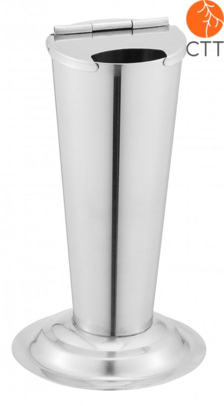 cylindre gradué en acier inoxydable, diamètre 4 cm x 11 cm de hauteur