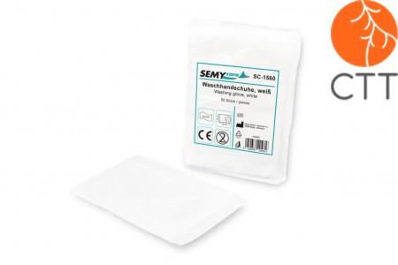 Gants de lavage, blancs, 15 x 23cm, boîte de 1000 pcs. super soft