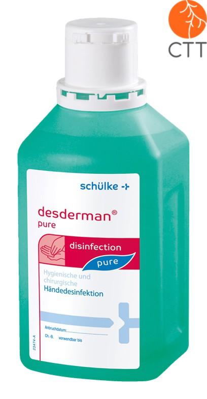 DESDERMAN Pure  bouteille de 1 litre Désinfectant pour le mains,