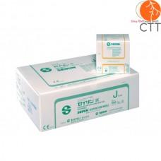 SEIRIN Typ J, avec tube, manche en plastique, siliconisé 100 aiguilles par box