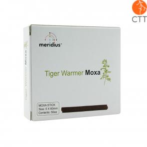 Chauffe-tigre (tiger warmer) Moxa rouleaux, 5mm x 80 mm, 50 pcs