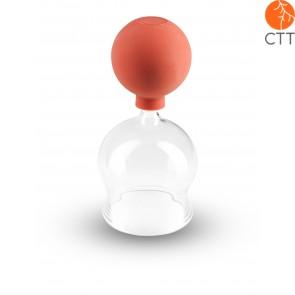 Ventouse en verre avec ballon après BIER Ø 3cm