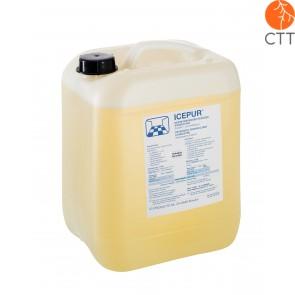 ICEPUR detergent desinfectant concentre dégraissant puissant, canistre à 10 litres pour surfaces et d'objets