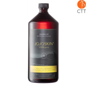 JojoSkin, huile de Jojoba pure et naturelle du Chilie, bouteille en plastic 1000ml avec distributeur et bouchon à vis