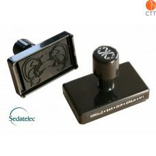 Tampons d'oreille No. 1 de Sedatelec, à support bois, auto-encreur