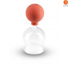 Ventouse en verre avec ballon après BIER Ø 4cm