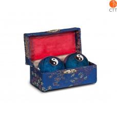 Original chinois Qi-Gong boules Yin & Yang  4cm, bleu