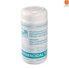 FERMACIDAL D2 lingettes désinfectantes boîte à 120 l., pour surfaces et objéts