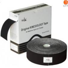 bandes kinésio NASARA®, noire, 5cm x 32m, clinique