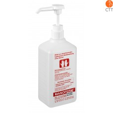 MANOFERM 500ml avec pompe de dosage pour désinfection mains et peau
